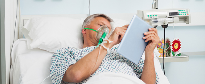 Healthcare Person Using Tablet